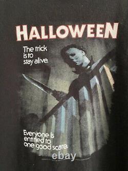 Vieille Chemise De Film D'halloween 90s Michael Myers Taille Grand Rare