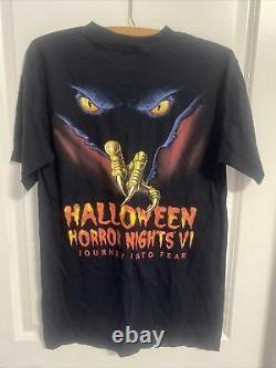Vieille Deadstock! Halloween Horror Nights VI 96 Taille M! Le Personnel De L'événement! Rare