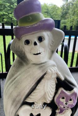 Vieille Moule Blow Rare Halloween 32 Squelette Cape Cat Cane Hat Ghoul