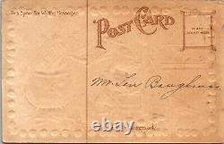 Vieille Taggart Antique Halloween Carte Postale D'une Sorcière, Jol, Owl, Cat & Pot Rare
