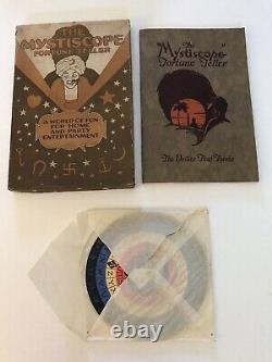 Vintage 1925 La Mystiscope Fortune Teller Very Rare Spinner Roue Box Halloween