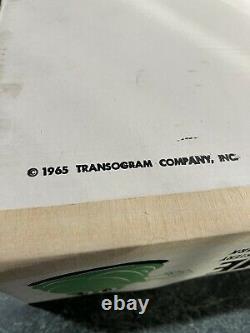 Vintage 1965 Transogram Green Ghost Glow In The Dark Game Avec Boîte Originale Rare