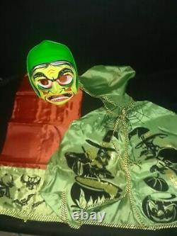 Vintage 1970 Colleveville Wicked Witch Halloween Costume Mask Avec La Boîte Rare