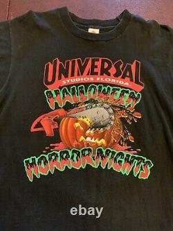Vintage 1992 Halloween Horror Nights Universal Studios T Shirt L Rare 1er Hhn