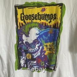 Vintage 1995 Goosebumps Scare Tee Chemise Hommes XL Halloween Horreur Skeleton Rare