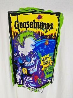 Vintage 1995 Goosebumps Scare Tee Shirt Hommes XL Halloween Horror Skeleton Rare
