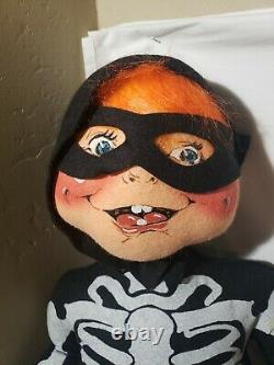 Vintage 1996 30 Skeleton Kid Halloween Doll Cheveux Orange Rares