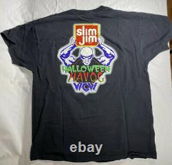 Vintage 1996 Wcw Halloween Havoc T-shirt XL Slim Jim Wrestling Shirt Rare