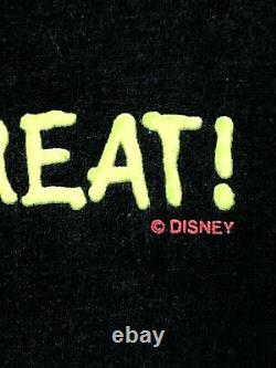 Vintage 90s Disney Shirt Mickeys Halloween Treat Tee Tee Très Rare L / XL Lueur Dans L'obscurité