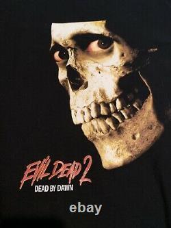 Vintage 90s Evil Dead 2 T Shirt Taille XL Rare Akira Halloween Freddy Longsleeve T