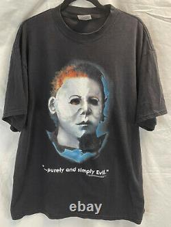Vintage 90s Halloween Michael Myers Tultex Taille XL Film Promo T-shirt Rare