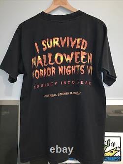 Vintage Années 90 Halloween Horror Nights Shirt Single Stitch Universal Studios Rare L