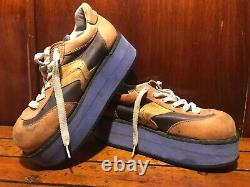 Vintage Années 90 Swear Of London Rave Skateboard Shoes Platform Rare! Halloween 11