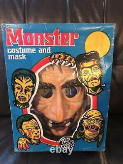 Vintage Ben Cooper Oncle Creepy Et Cousin Eerie Boxed Costume Set, Rare