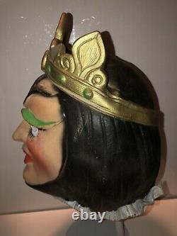Vintage Cesar Blanche Neige Mauvaise Reine Latex Masque Halloween Femme Dominatrix Rare