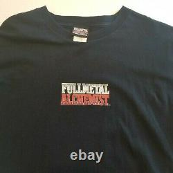 Vintage Fullmetal Alchemist Mens Rare Black Anime T Shirt Grand Manga Graphique