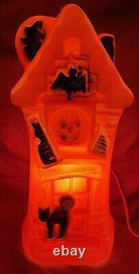 Vintage Halloween Haunted House Rare Flow Mold 16.5 Allumez-vous