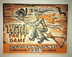 Vintage Halloween Htf Rare 1965 Parti Sorcière Jeu N ° 301 Spécial Game Company