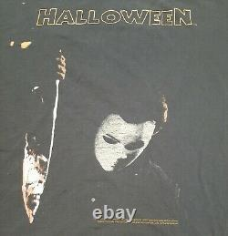 Vintage Halloween Michael Myers Dbl Sided Chemise'06 Rare Détresse (envil)