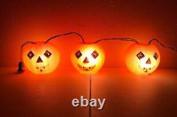 Vintage Halloween Peerless Lights Jack O Lantern Pumpkin Blow Mold Rare Années 1960