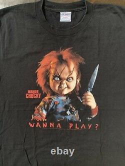 Vintage Horror Bride Of Chucky Shirt Adulte! Taille L! Super Rare! U. S. Vendeur