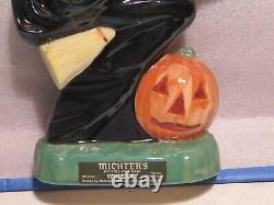 Vintage Michter's Whiskey Green Witch Decanter Rare Perfect Halloween Display