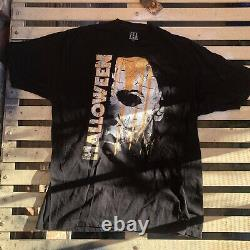 Vintage Official Promo Halloween Movie Shirt 2010 80s Michael Myers Rare XL Goth