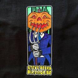 Vintage Rare Années 90 Birdhouse Skateboards Steve Berra Pumpkin Head Black Halloween
