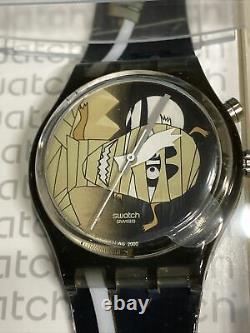 Vintage Swatch Mystery 3 Gent Montres #gzs54 Rare Halloween Set! Plume! Le Dernier