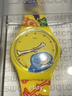 Vintage Swatch Mystery 3 Gent Watches #gzs54 Rare Halloween Set! Nib! Dernier