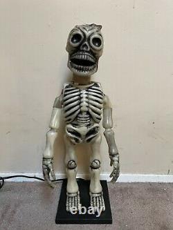 Vintage Telco Halloween Glow Head Skeleton Avec Cape 1980s Retro Rare Avec Boîte