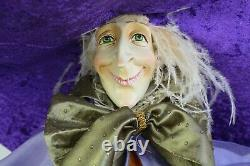 Vtg Rare Patience Brewster Krinkles Raggedy Witch Dept 56 Halloween 36 Tall