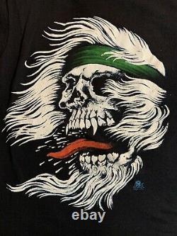 Vtg Skull Shirt Métal Rare Années 80 Screen Stars 50/50 Single Stitch Thrash Slayer