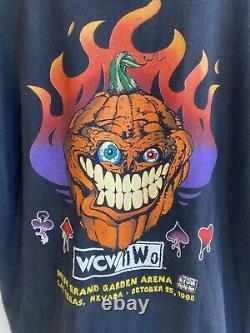 Wcw Nwo Halloween Havoc 1998 Original T-shirt Taille Grand Vintage Rare Ppv Shirt