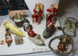 Witch Cauldron Halloween Candy Conteneur Antique Rare Japon C1950 Paper Machette